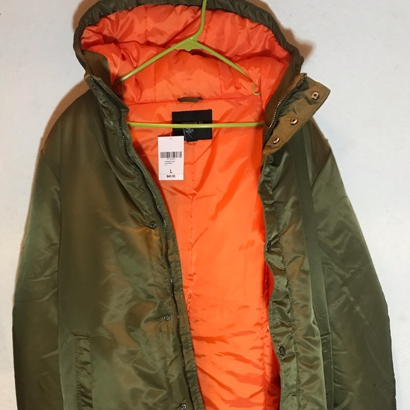 Green Parka Orange Lining